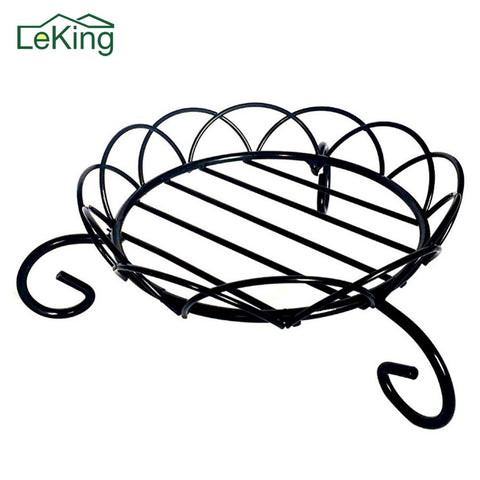 6 Inches Diameter Black Metal Iron Plant Pot Stand Flowerpot Stand Short Plant Stands Flowerpot Holder Rack For Indoor Outdoor
