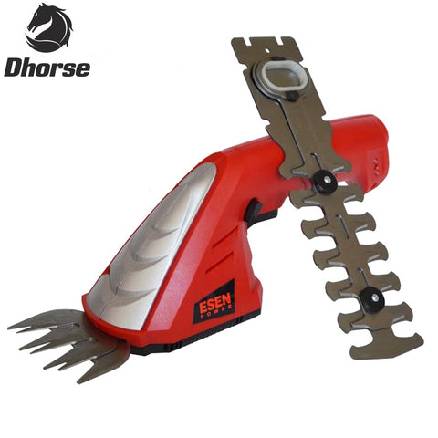 Dhorse Power Bonsai Tools 7.2V Li-Ion Rechargeable Hedge Trimmer /Pruning Shears Grass Cutter Cordless Garden Tools SX063