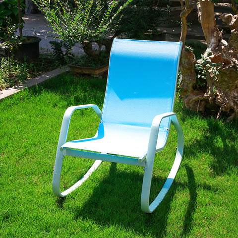 Modern Rocking Chair Metal Frame Garden Furniture Comfortable Relax Lazy Lounge Chair Rocking Rocker for Garden Porch Outdoor