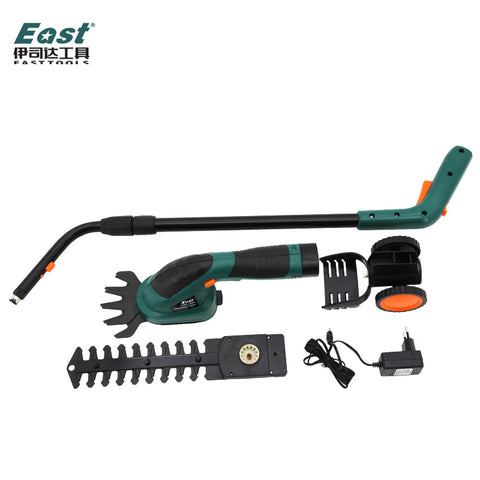East ET1502 Power Tools 7.2V Combo Lawn Mower Li-Ion Rechargeable Hedge Trimmer Grass Cutter Cordless Garden Tools