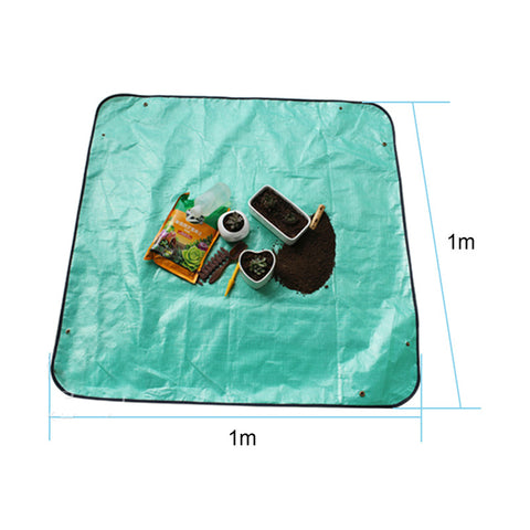 PE Green Garden Working Waterproof Grow Straw Mat Plant Cover Lawn Carpet Keep Dry Mats Garden Tools Products Supplies 100cm