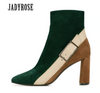 Luxury Green Suede Ankle Boots - LuisaMora