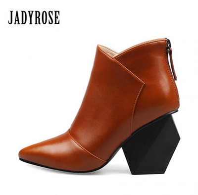 Geometric Design Ankle Boots