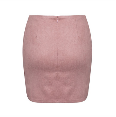Asymmetrical Suede Skirt
