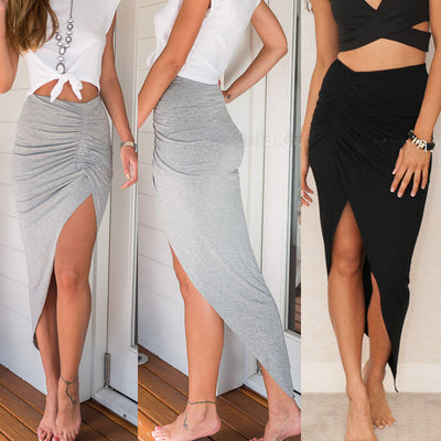Slit Pencil Skirt