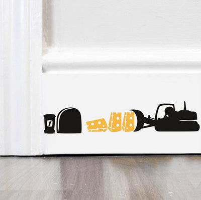 Funny mouse hole stickers - LuisaMora