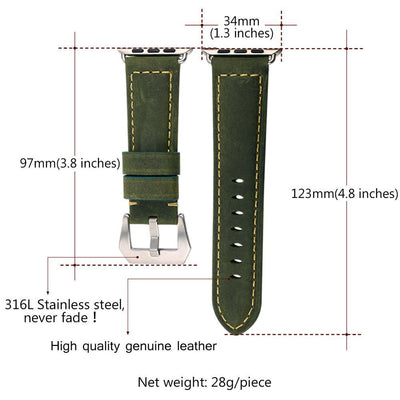 Premium leather Apple watch band 42mm - LuisaMora