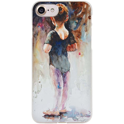 Ballet Dancer Watercolor iPhone Case - LuisaMora