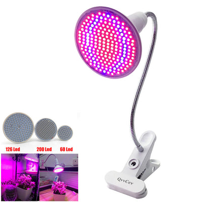 36 60 126 200 led grow light Hydroponic lighting with Clip plants Lamps for flower hydroponics system indoor garden greenhouse - LuisaMora