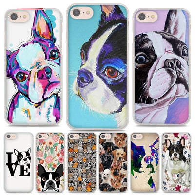 Boston terrier watercolor style iPhone case - LuisaMora