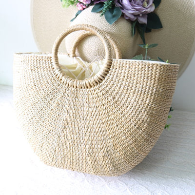 Flower design BEACH STRAW SET - LuisaMora