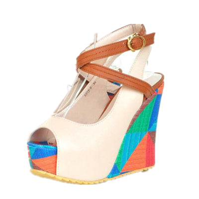 2018 Color Splash Platform Sandals - 5 colors - LuisaMora