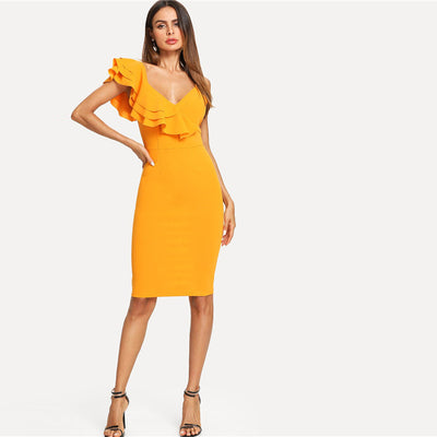 Latin Style Pencil Dress - LuisaMora