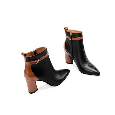 Elegant genuine leather boots - LuisaMora