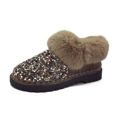 Sequin Winter Short Boots