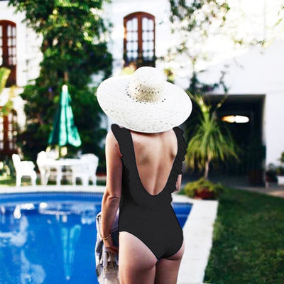 French Style Backless Swimsuit