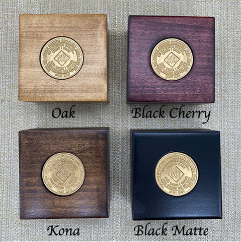 12 Step Medallion Holder Box