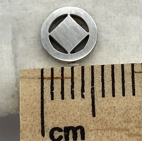 Stainless Steel Narcotics Anonymous Stud Earrings - Hypoallergenic