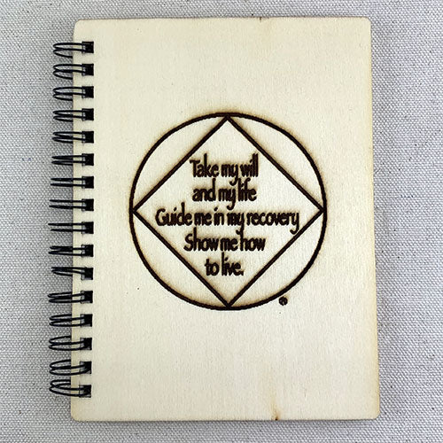 """Take my will and my life"" Wood Notebook"