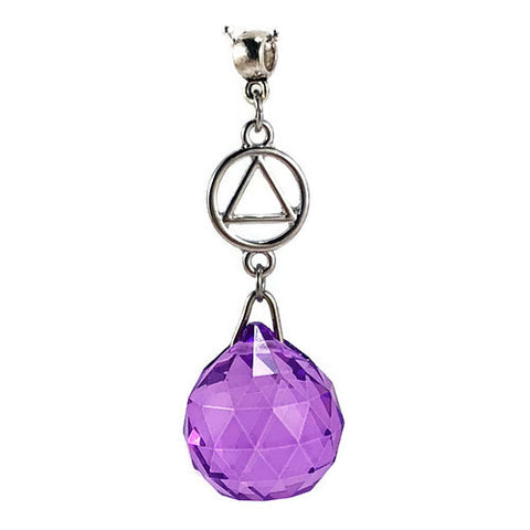 AA Hanging Crystal Ball Sun Catcher - Purple
