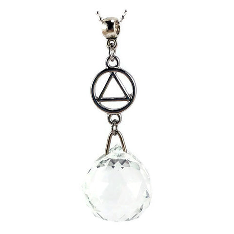 Alcoholics Anonymous Hanging Crystal Ball Sun Catcher