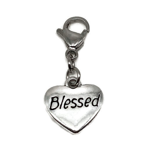 """Blessed"" Heart Charm"