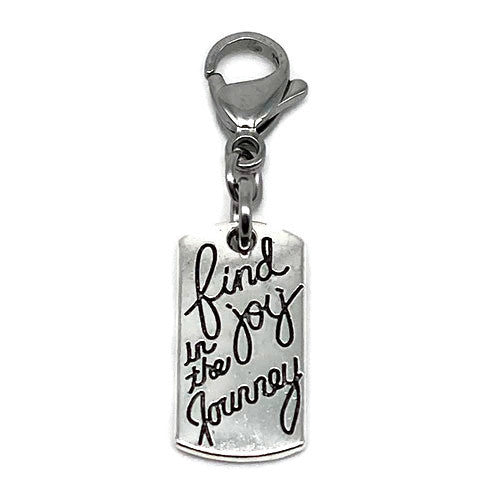 """Find the Joy in the Journey"" Charm"