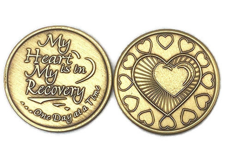 "Bronze ""My Heart is in my Recovery"" Medallion"