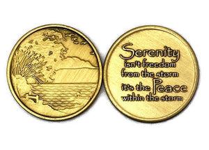 Bronze Serenity Lake Medallion