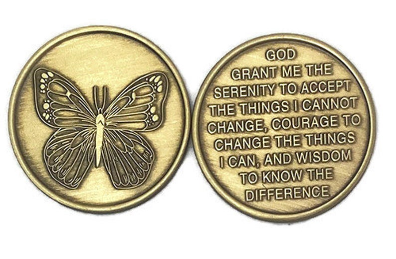 Bronze Butterfly Medallion
