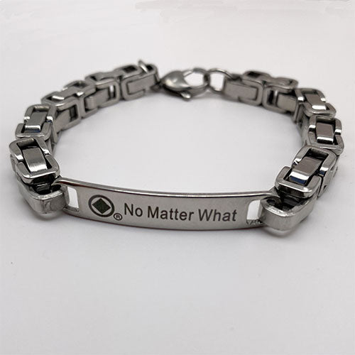 "Men's Stainless Steel ""No Matter What"" NA Bracelet"