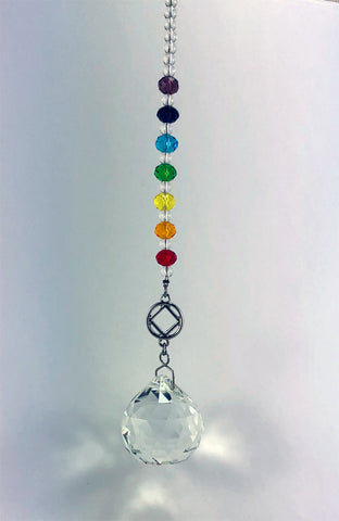 NA Chakra Hanging Crystal Ball Sun Catcher