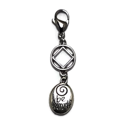 "Narcotics Anonymous ""Be Yourself"" key tag charm"