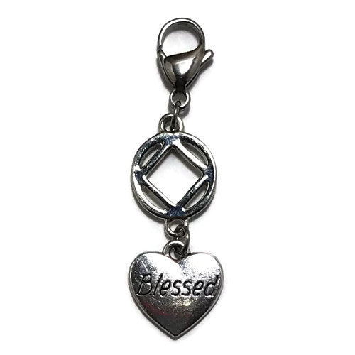 "Narcotics Anonymous ""Blessed"" key tag charm"