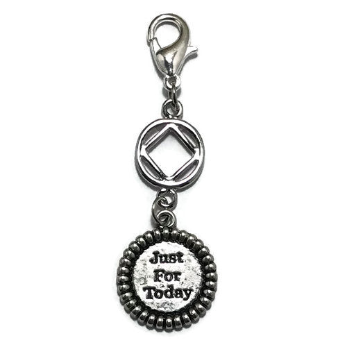 "Narcotics Anonymous ""Just for Today"" key tag charm"