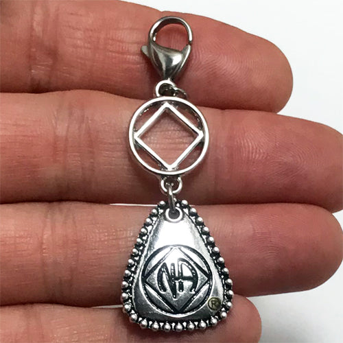 "Narcotics Anonymous ""NA Key Tag"" key tag charm"