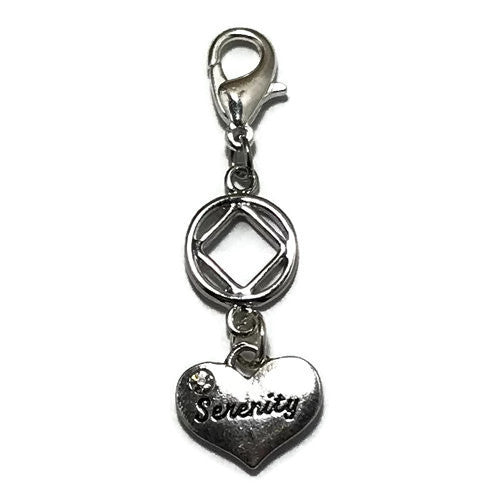 "Narcotics Anonymous ""Serenity"" key tag charm"