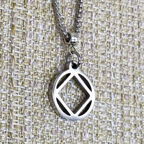 Small Narcotics Anonymous Logo Stainless Steel Cutout Pendant