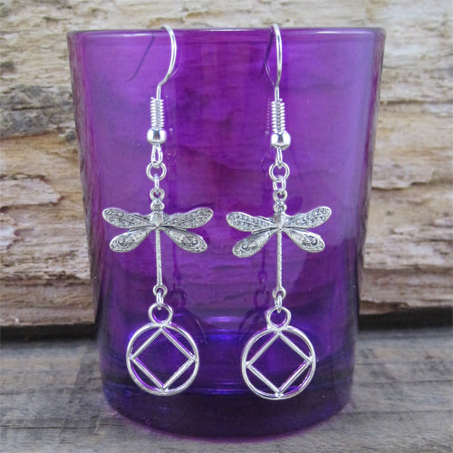 Narcotics Anonymous Dragonfly Earrings