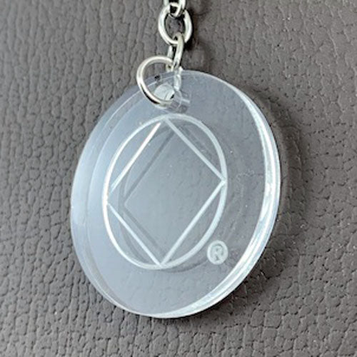Narcotics Anonymous laser etched lucite key tag charm