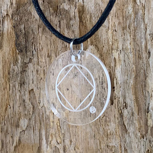 Narcotics Anonymous Lucite - Laser Etched Pendant