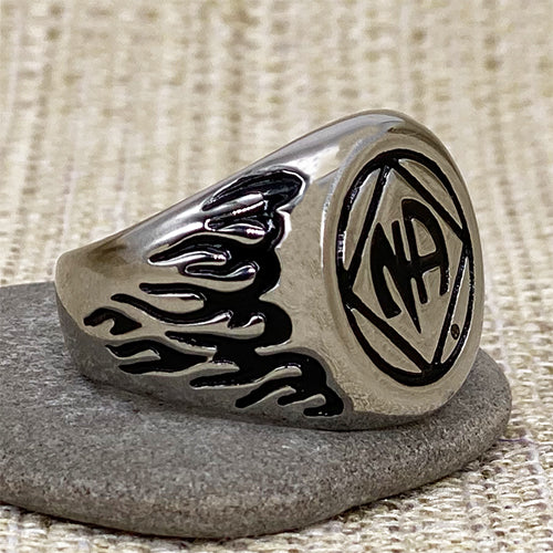 Stainless Steel Narcotics Anonymous Ring for Men