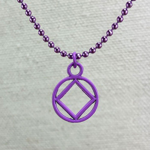Narcotics Anonymous Purple, Black, or Red, Enameled Mini Pendant