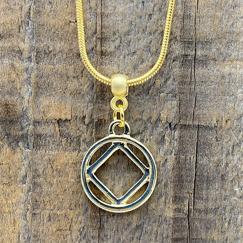 Narcotics Anonymous Gold Pendant
