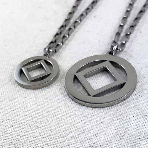 Large Narcotics Anonymous Logo Stainless Steel Cutout Pendant