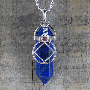 "Narcotics Anonymous Lapis Lazuli Pendant - ""Willingness"""