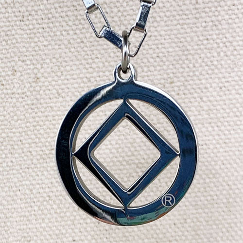 Narcotics Anonymous Logo Stainless Steel Cutout Pendant