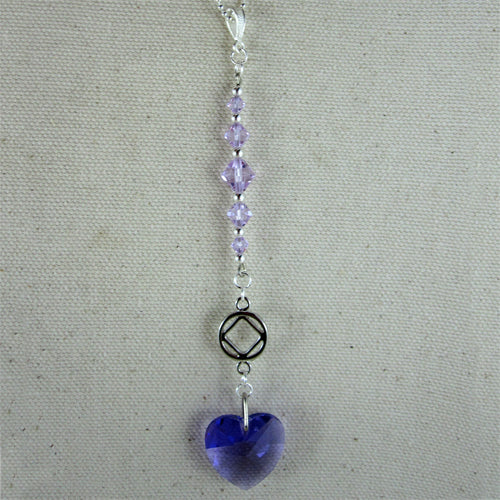 Narcotics Anonymous Swarovski Crystal Heart - Sun Catcher / Car Charm