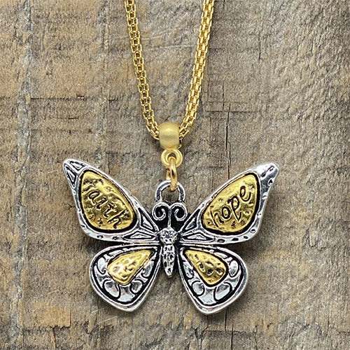 "Butterfly Pendant - ""Hope & Faith"""