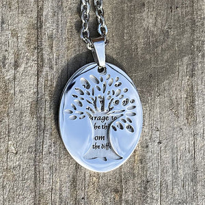 Tree of Life - Serenity Prayer Stainless Steel Pendant